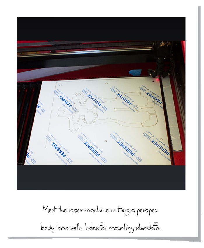 Laser cutting in action body torso